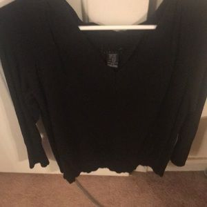 Womans black sweater